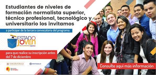 Inician inscripciones para hacer prácticas laborales en el Estado colombiano en 2018