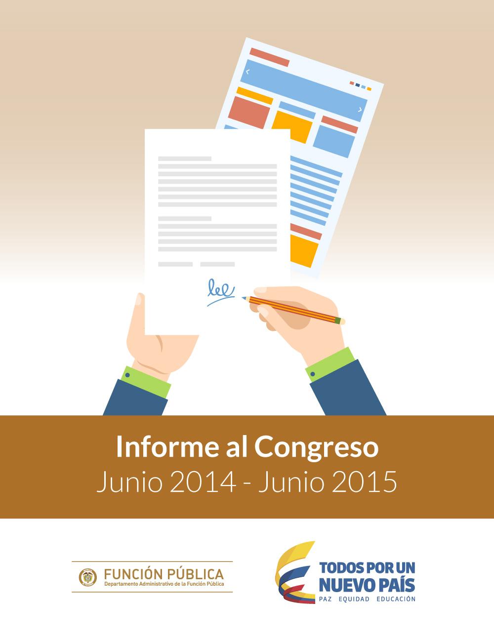 Informe al Congreso período junio 2014-junio 2015. Departamento Administrativo de la Función Pública