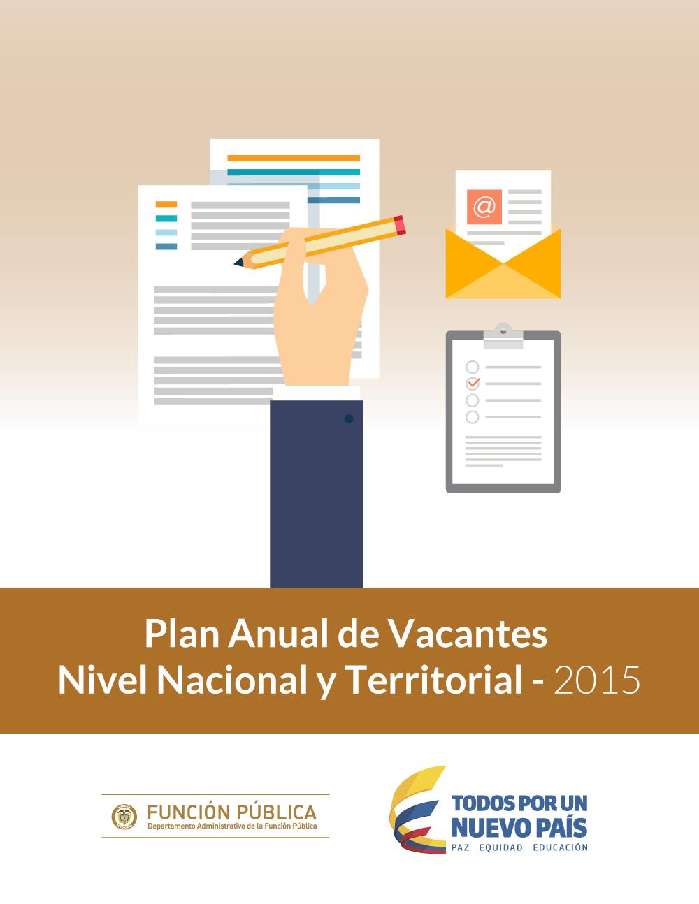 Plan Anual de Vacantes Nivel Nacional y Territorial