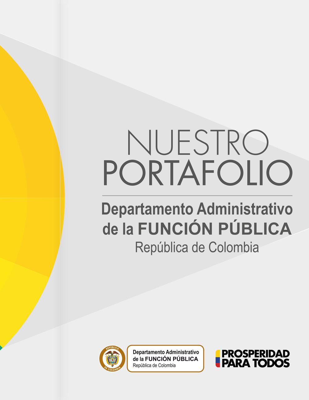 Portafolio de servicios del Departamento Administrativo de la Función Pública