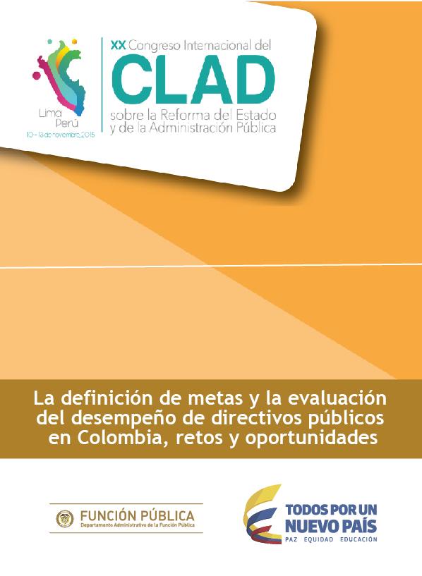 La definición de metas y la evaluación del desempeño de directivos públicos en Colombia, retos y oportunidades