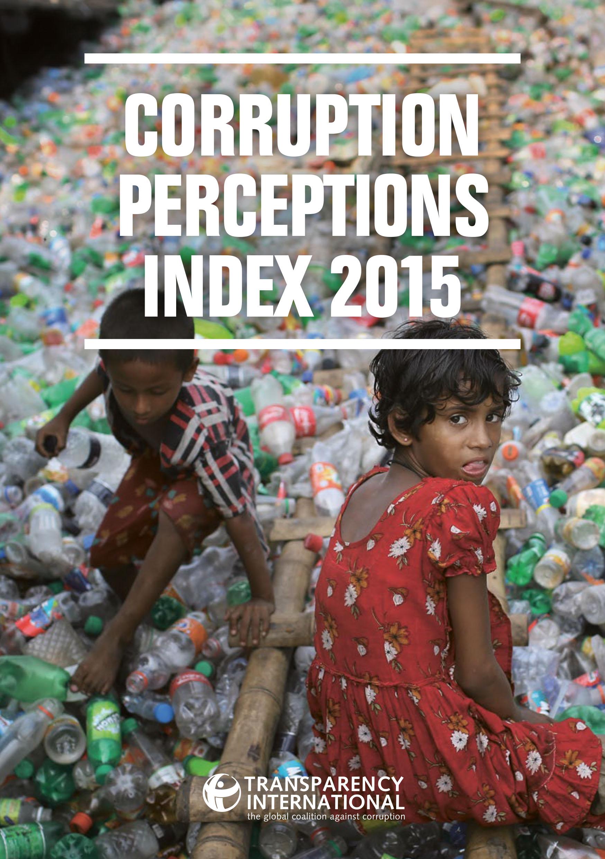 Indice de Transparencia Internacional sobre percepción de corrupción 2015.