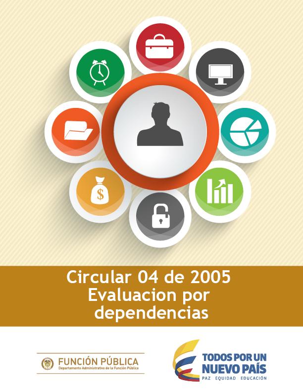 Circular 04 de 2005 Evaluacion por dependencias