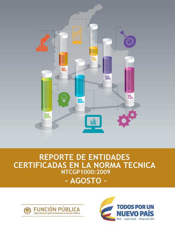 Reporte de Entidades Certificadas en la Norma Técnica NTCGP1000:2009 Agosto