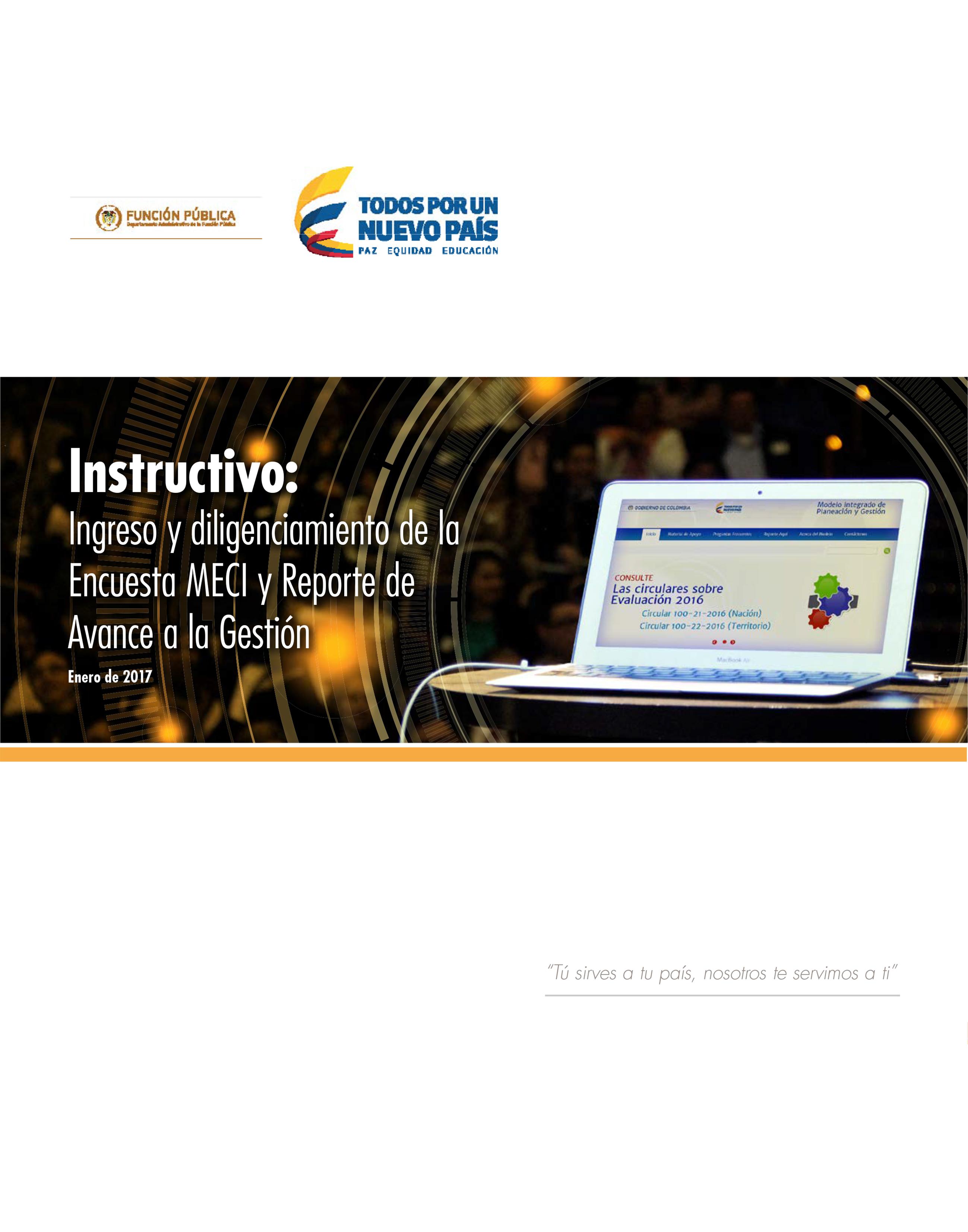 Instructivo: Ingreso y diligenciamiento de la Encuesta MECI y Reporte de Avance a la Gestión
