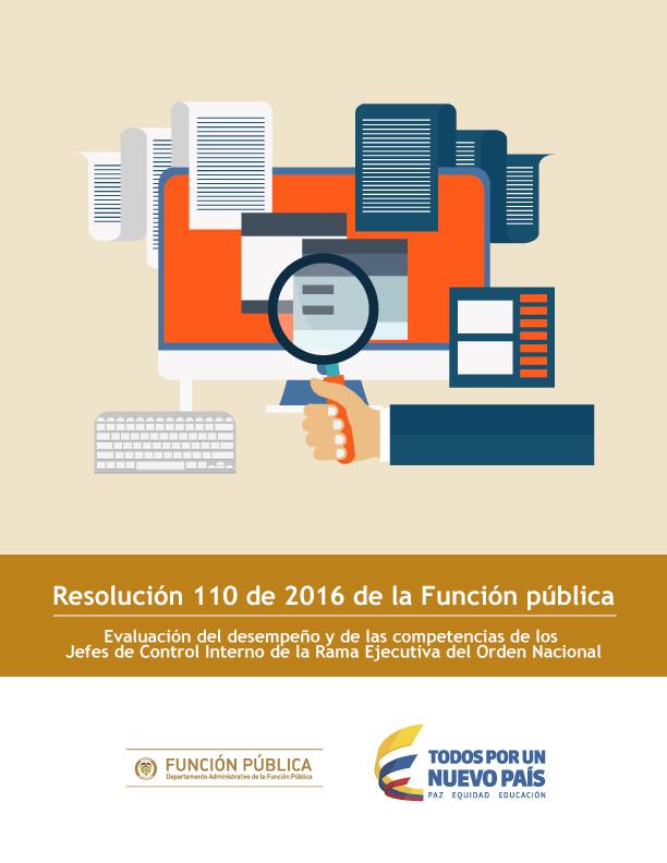 Resolución 110 de 2016 de la Función pública