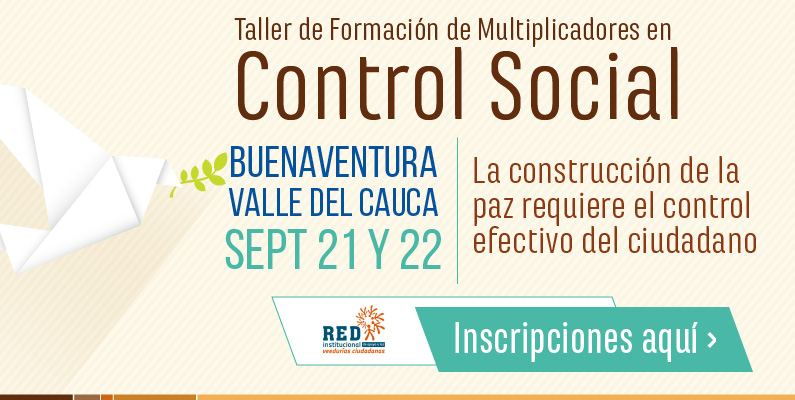 Formación de Multiplicadores en Control Social Buenaventura