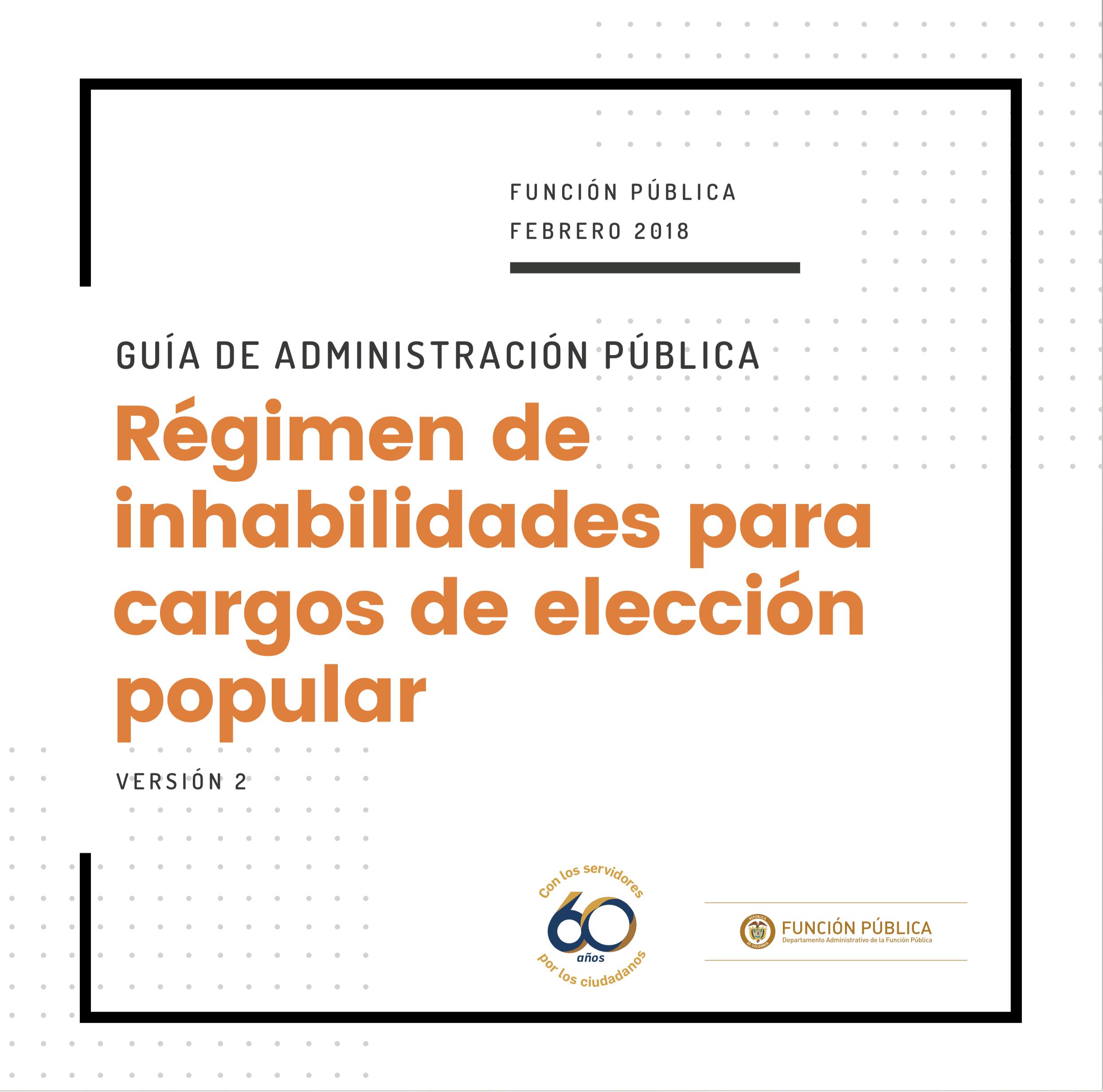 Régimen de inhabilidades para cargos de elección popular