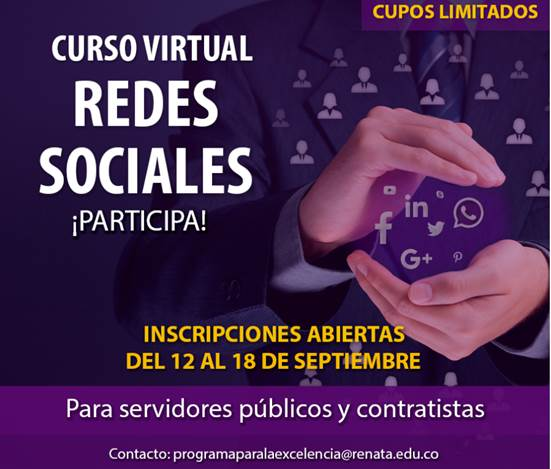 Convocatoria para curso virtual - REDES SOCIALES